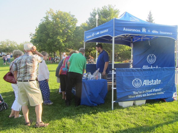 Allstate Peterborough booth at Peterborough Musicfest