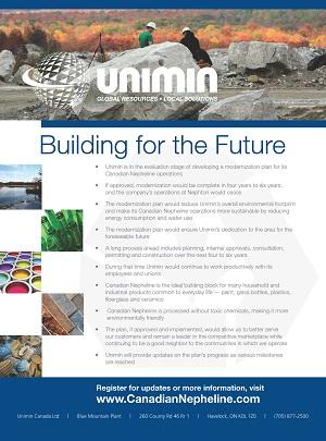 Unimin - Directory Ad
